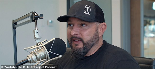 American podcast host Andy Frisella (pictured) is the founder of the #75HARD Challenge