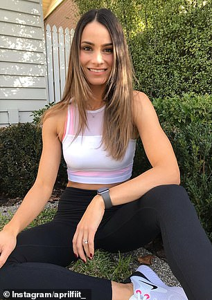 Melbourne interior designer and fitness influencer April (pictured) is currently on Day 25 of the #75HARD Challenge