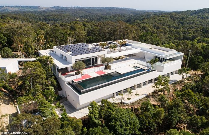 Renewable energy:The environmentally-conscious couple, who are moving in with their three children in November, have installed hundreds of solar panels on the roof of their sprawling property