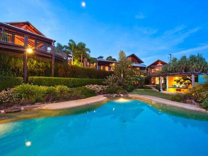 Transformed!Chris first bought the home for $7million in 2014. At the time, it was a Balinese-style villa nestled among the bushland (pictured)