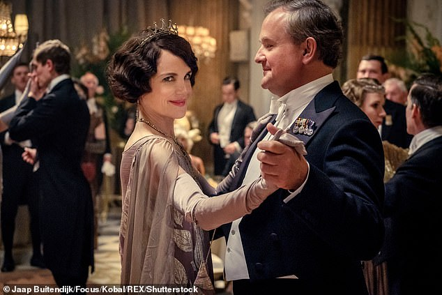 Hit: Elizabeth McGovern and Hugh Bonneville both reprised their roles for the film