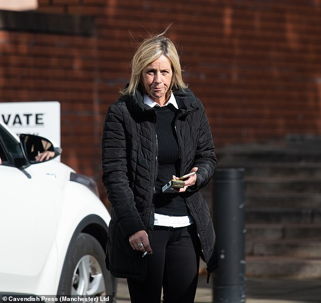 Jacqueline Goosey leaving Preston Crown Court.The incidents occurred over a 14 month period from April 2017 when Goosey's nephew was arrested for breach of bail