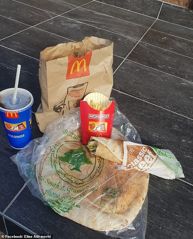 Elias Abi-merhi managed to convince McDonalds drive-thru staff to make up his own version using the ingredients of the much-loved Big Mac along with his own pita bread