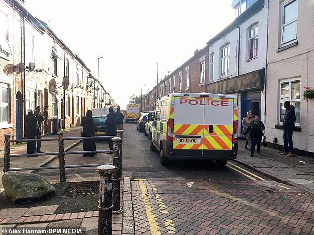 The victim, who has not been named but believed to have been in her thirties, was attacked at her terraced home in the Highfields area of Leicester yesterday morning