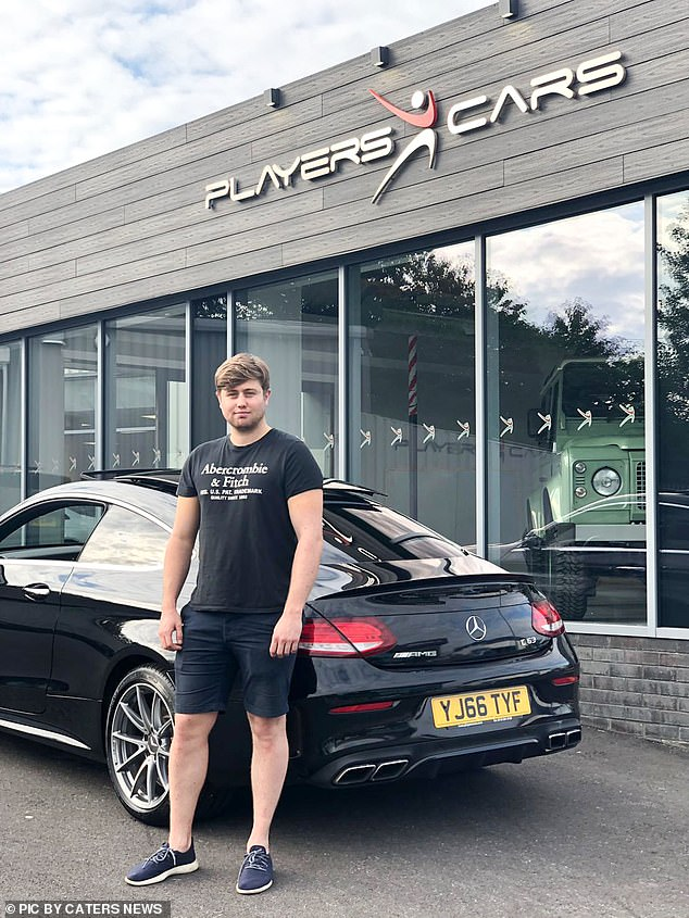 He has four GCSEs and says he was told by lecturers that he would struggle to get a job. Now he says he owns three houses and expensive cars like the Mercedes pictured above