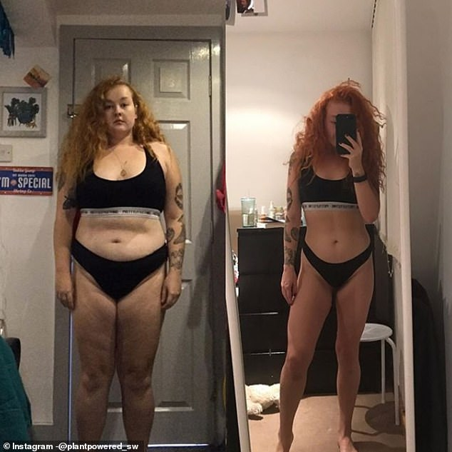 She says that it 'wasn't that difficult' transitioning to healthy foods as the plan let's you have 'everything in moderation'