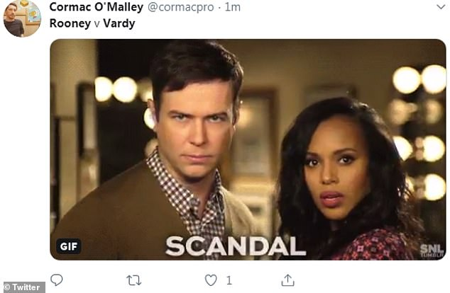 Oh my! The scenes were likened Kerry Washington's TV show Scandal