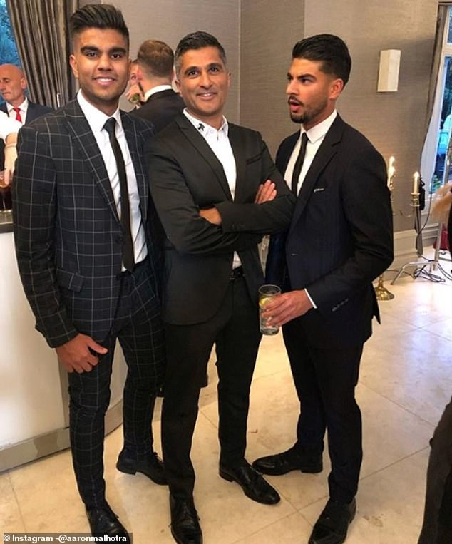 He often shares snaps with his father Sandeep (middle) and his mother Seema, whom he has previously hailed his 'bestie'