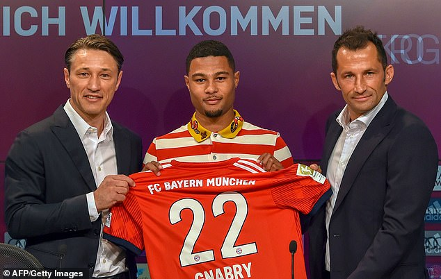 Bayern sealed a move for Gnabry in 2017 after activating a clause in his Werder Bremen dela