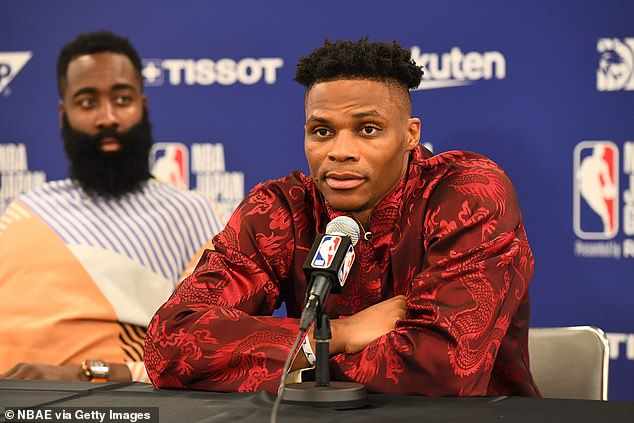 Westbrook, who made his first appearance as a Rockets player, had already apologised to his Chinese supporters after his team's manager showed his support to Hong Kong protesters