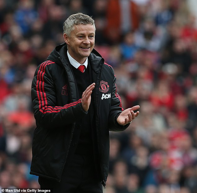 A thrilled Solskjaer during the opening day win over Chelsea at Old Trafford in August