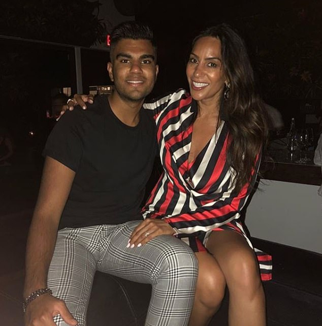 Aaron is Seema Malhotra's younger son, they are pictured together looking stylish on a night out