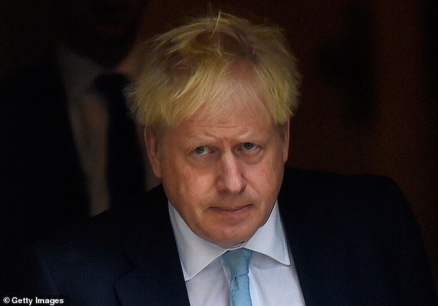 Mr Johnson, pictured in Downing Street on October 3, is due to meet Leo Varadkar for crunch Brexit talks tomorrow