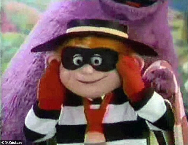 But he was left stunned when he was told the tills would not open unless he bought something off the menu. Incredibly, Parra-Braun ordered a 99p cheeseburger and even handed over a £5 note before making off with £136 in cash (pictured: The Hamburglar)