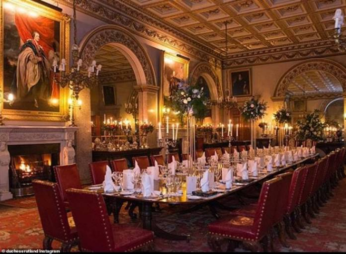 In the meantime, dinner parties are held at tables that span an entire hall and are surrounded by fireplaces, candelabra, and giant ancestral portraits