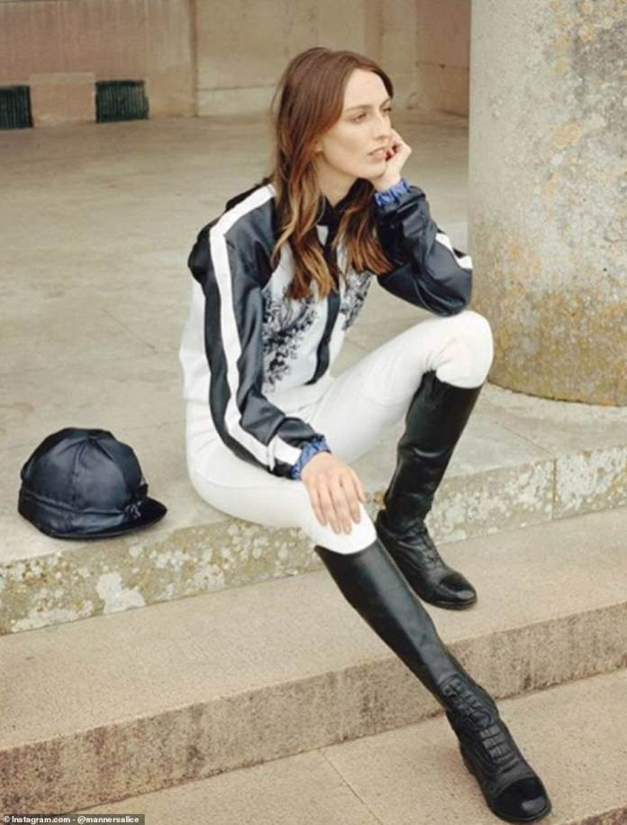 Lady Alice, 23, who attended Conde Nast College of Fashion and Design, is an experienced rider and style expert