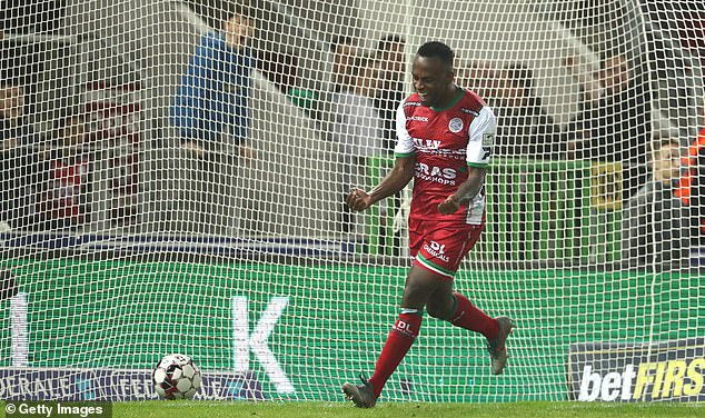 The 26-year-old striker currently plays in Belgium for top division sideZulte Waregam