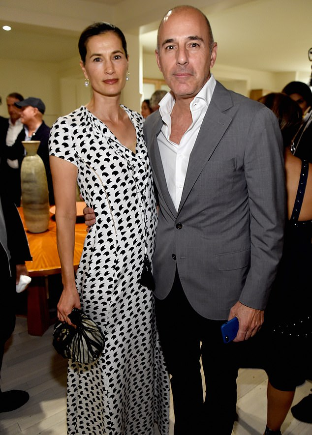 Lauer and his wife Annette Roque (above in 2013) finalised their divorce last month, two years after they split amid the sexual misconduct allegations against him