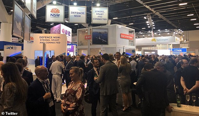 The crowd at the defence contractor trade show PACIFIC 2019 held in Sydney this week