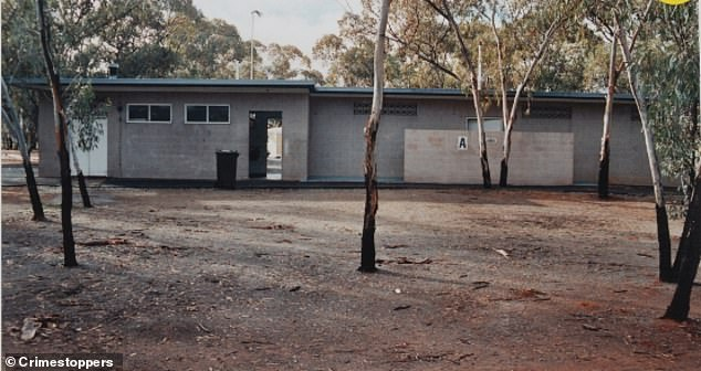 The now 38-year-old mother is accused of murdering her child in 1995 after it was found inside a toilet block in Kambalda Caravan Park(pictured)