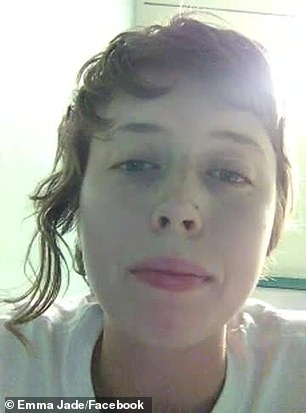 Emma Dorge, 23, who uses the name Emma Jade on Facebook, posted a video on social media on Wednesday from her jail cell after being arrested at the protests