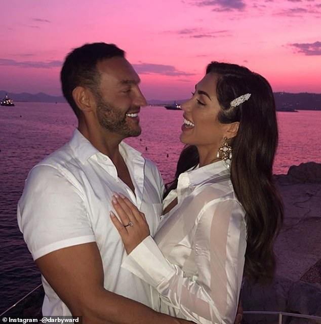 The model is engaged to Michael Corrado Jackson, who ownsMr Whippy ice cream in the United Arab Emirates