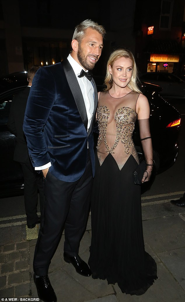 Wow! Chris Robshaw and Camilla Kerslake glimmed it up to the max