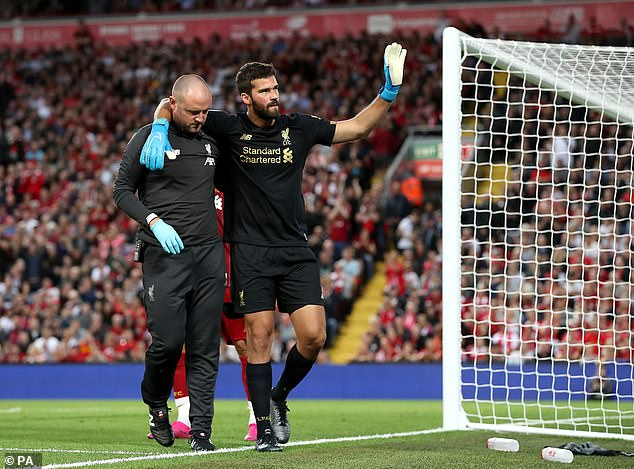 Liverpool goalkeeper Alisson is pushing for a return following an injury to Manchester United
