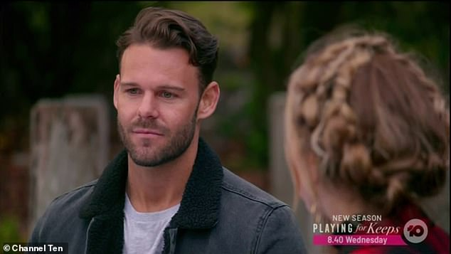 'I am... married!' During Thursday night's episode, Carlin (pictured) told Angie Kent that he was technically still married to his estranged wife