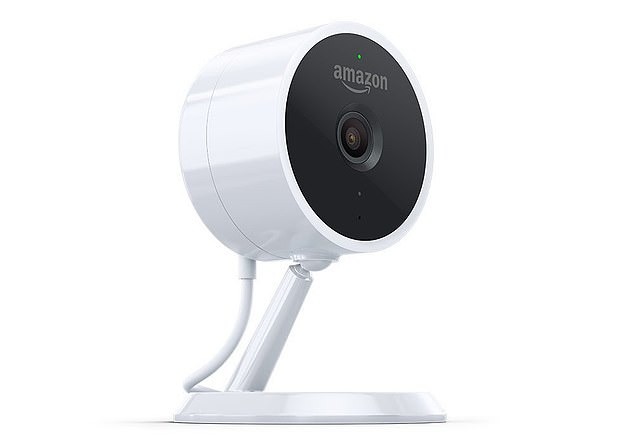 Amazon's Cloud Cam is not available in the UK but costs customers less than $120 in the US and can be used to keep track of what's happening in their homes 24 hours a day