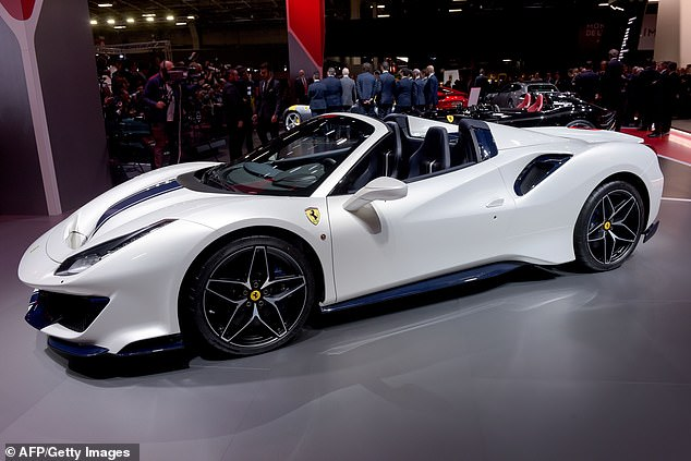 Spence Jr was driving a $300,000Ferrari 488 Spider similar to the one pictured here