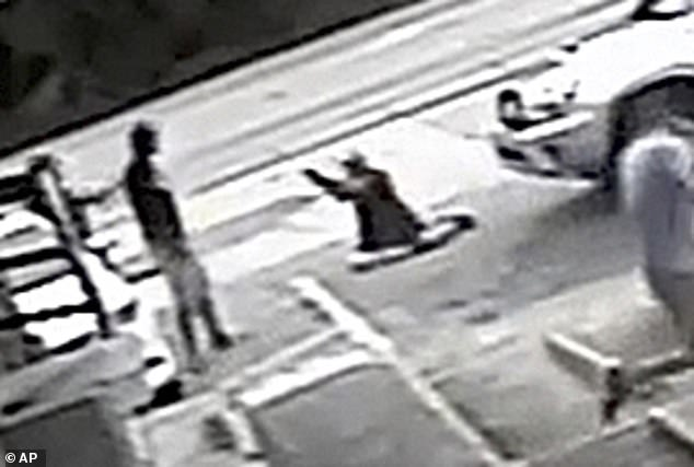 Drejka had confrontedMcGlockton's girlfriend for parking in a handicap parking spot.Security video captured McGlockton leaving the store and shoving Drejka to the ground. Seconds later, Drejka (on the ground) pulled out a handgun and shot McGlockton as he backed away