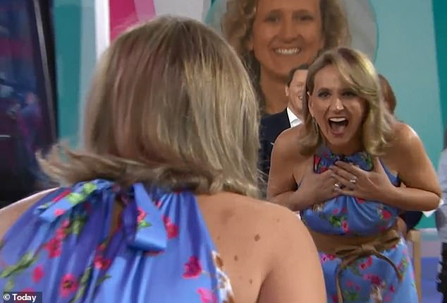 Amazed: 'I love it,' Katie gushed when she saw her new look for the first time