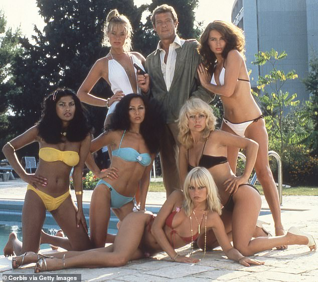 British actor Roger Moore on the set of the 12th James Bond film For Your Eyes Only in 1981