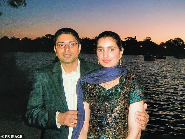 Parwinder Kaur (pictured right) died in petrol-fuelled blaze at Sydney home in December 2013. Her husband Kulwinder Singh, 41, (pictured left) has pleaded not guilty to murder in NSW court