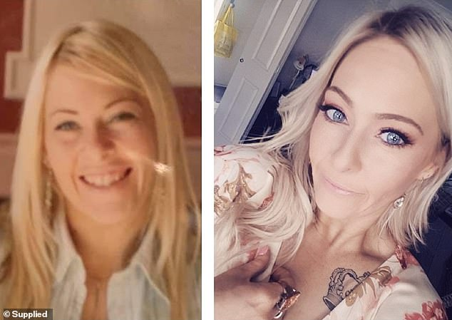 Many commenters were shocked by Melbourne-based Kelly Golzer's transition, with some believing she looked older in her 25-year-old photo (left) than her 41-year-old one (right)