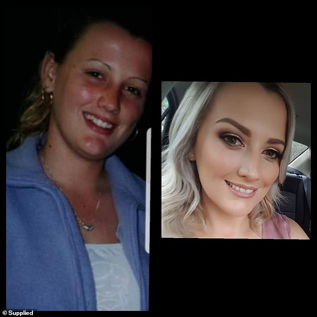 Fellow Queenslander Kristy Treloar offered an insight into her own beautiful makeover, from a pint-sized 14-year-old (left) to a blonde, well groomed 31-year-old with a talent for eye makeup (right)