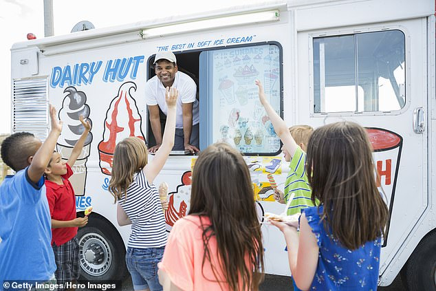 A number of people recalled their parents telling them the ice cream van only played music to indicate it had run out of ice cream (stock image)