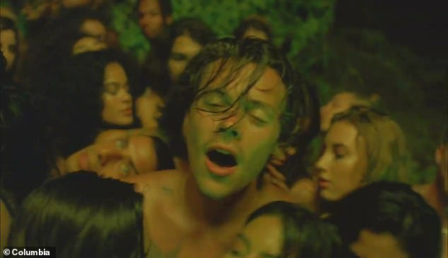 Sizzling: The singer had an expression of ecstasy on his face in one scene
