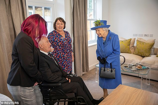 The royal also met with veteran Alan Spencer, who has been involved with fundraising for the Haig Housing Trust