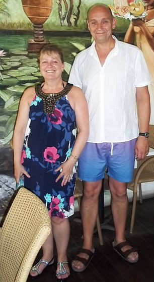 Andrew Hardman, 56, pictured with his wife Sharon, 59