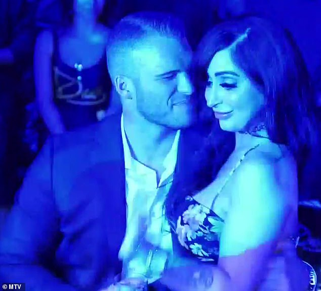 Trouble: On last week's episode of Jersey Shore: Family Vacation, Zack wrapped his hand around Angelina Pivarnick's waist in a nightclub and touched her bum