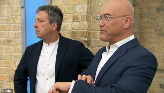 Thrilled:The star revealed he was 'over the moon' after judges John Torode and Gregg Wallace selected him as this year's champion