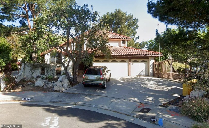 Photographs show the couple's home in Granada Hills before (pictured) and after was burned by the Saddleridge Fire