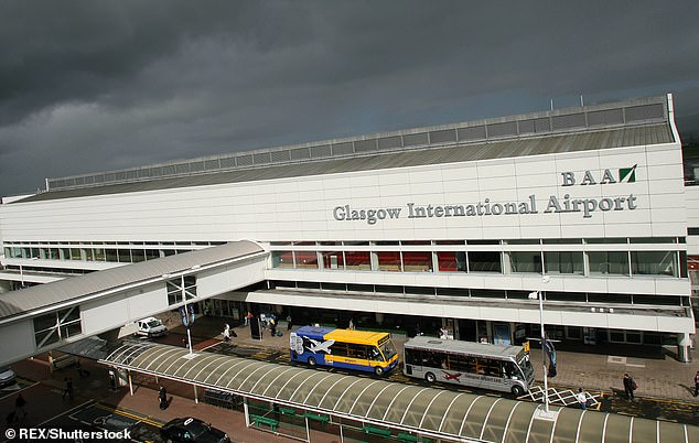 The suspect had been arrested at Glasgow Airport following a flight from Paris