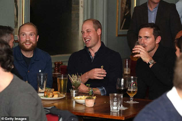 Prince William and Frank Lampard watched on as England played against Czech Republic
