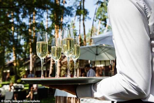 Yikes! A bride is being slammed for saying she wants to have a cash bar at her wedding — and charge her guests enough for drinks to recoup some of her own wedding costs (stock image)