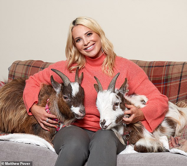 Camilla Ainsworth bought two goats after her grandmother left her with £500. She says her beloved pets Vincent Van Goat and Nigel love to sit in the kitchen while we all eat dinner and have eaten all the vegetable and fruit plants in the garden