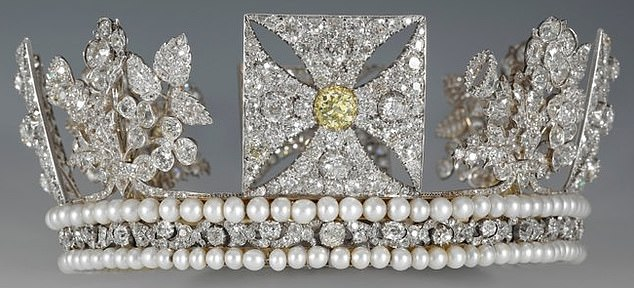 The Queen, 93, is instead expected to wear the lighter George IV diadem (pictured)