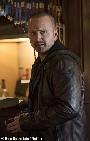 Besides, El Camino (Spanish for 'the road') is paved with flashbacks, even though most of them are newly minted, created especially for this film. Aaron Paul is pictured above as Jesse Pinkman